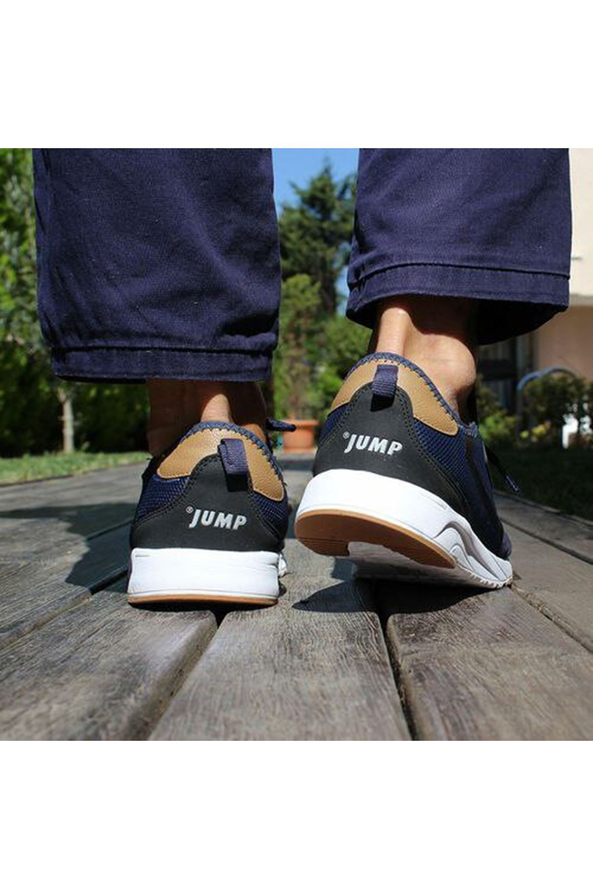 Jump 24670 Fileli Rahat Erkek Spor Ayakkabı LACİVERT