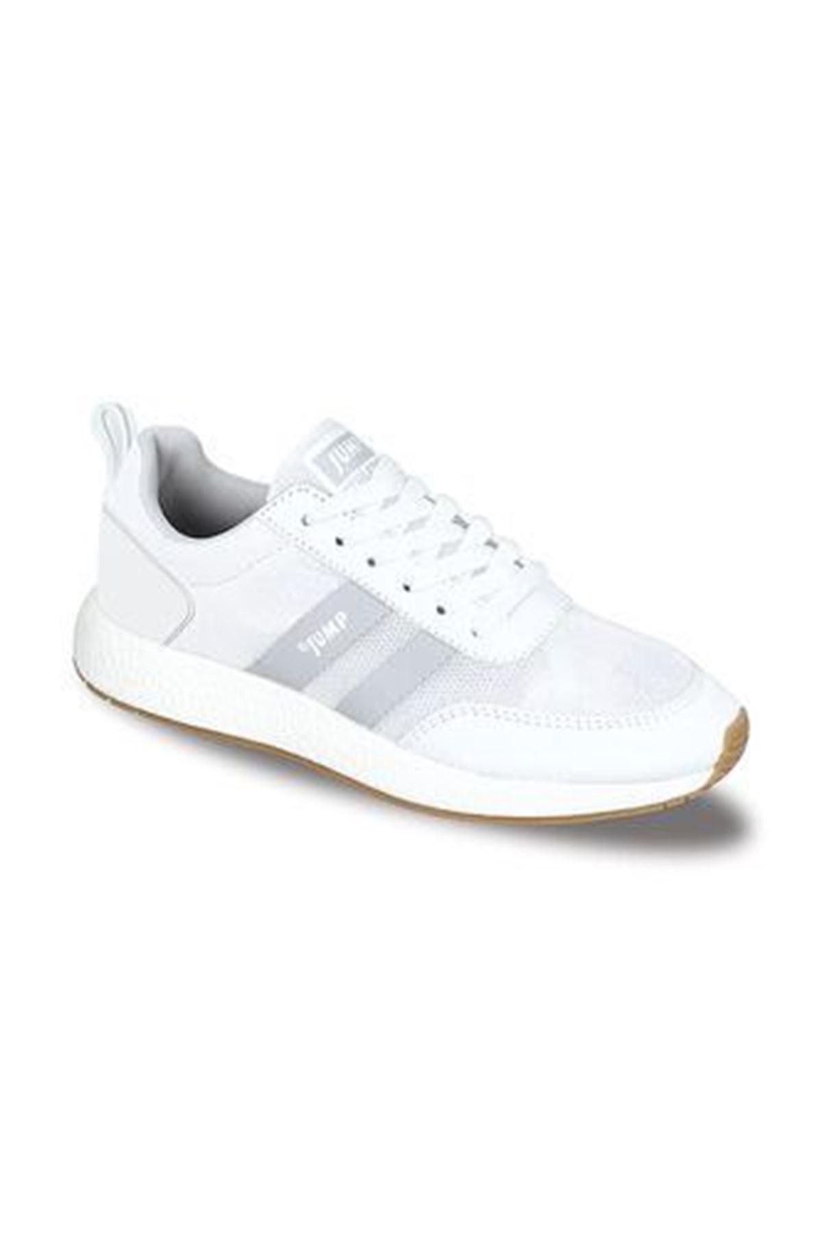 Beyaz Erkek Spor Ayakkabı Rahat Hafif 26396