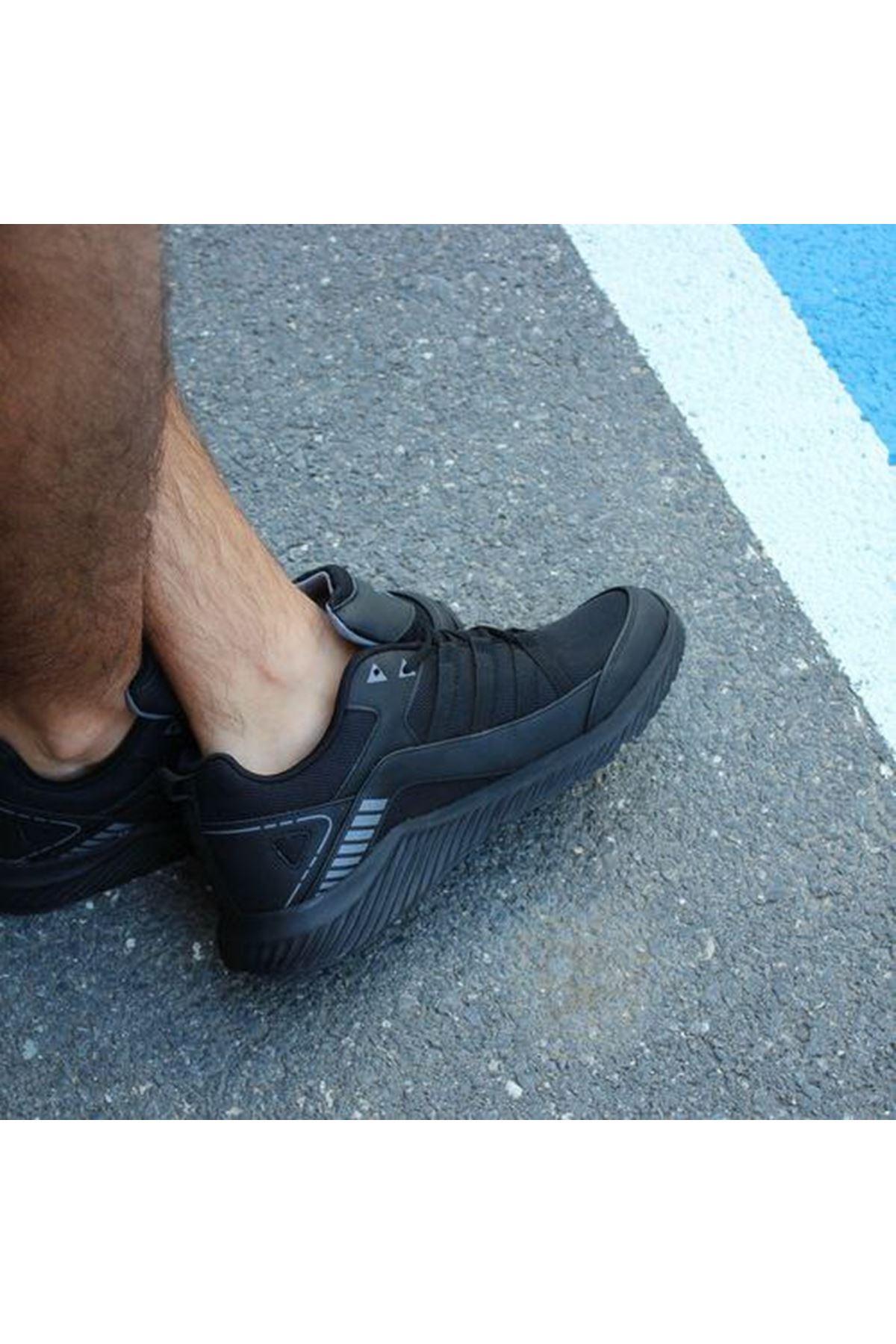 Büyük Numara Ayakkabı Siyah 46-47-48 Numaralar Fileli Rahat