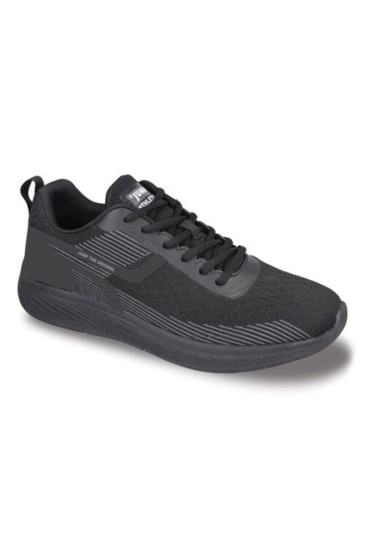 Siyah Fileli Rahat Erkek Spor Ayakkabı 26516