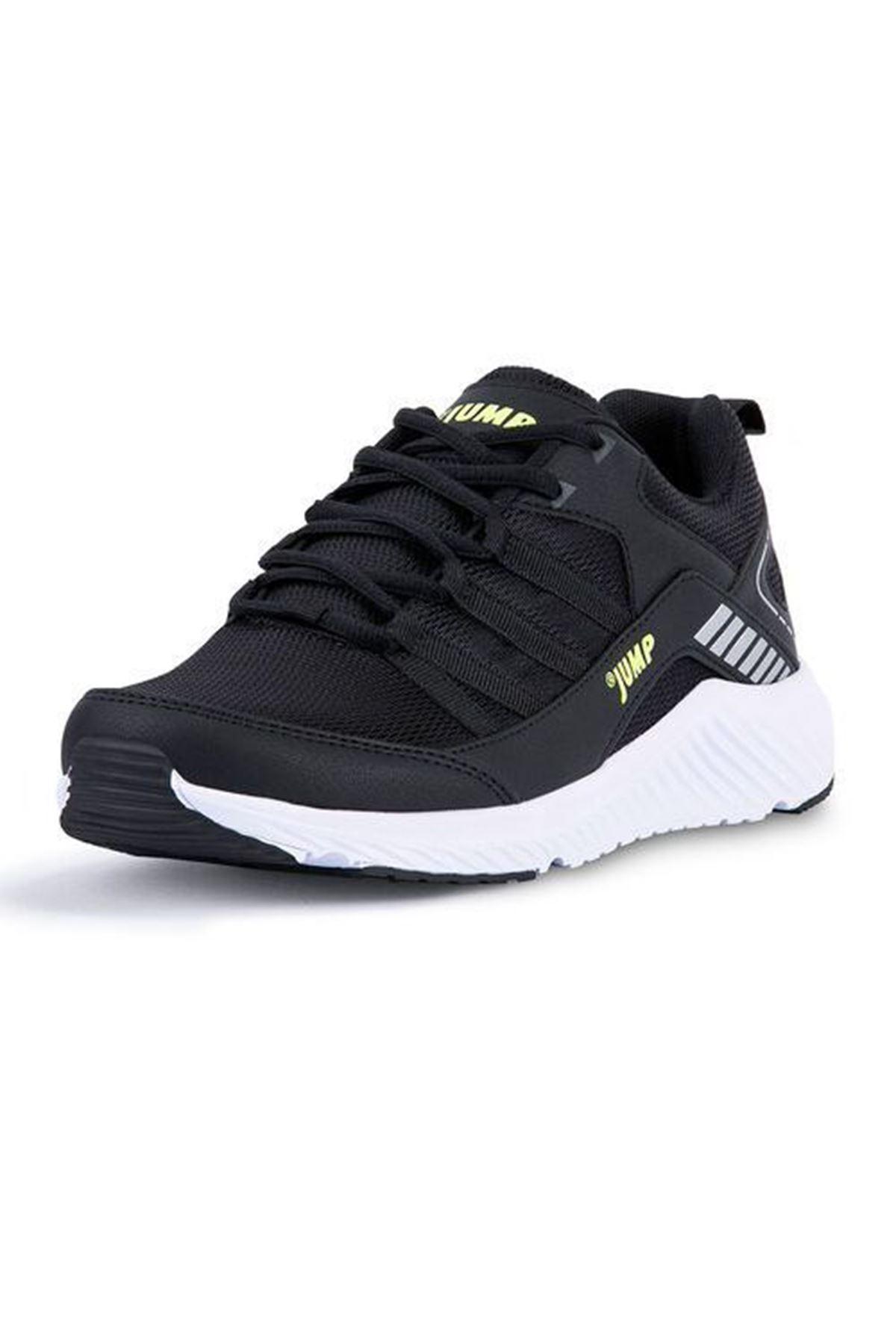 Siyah Erkek Spor Ayakkabı Fileli Rahat 24865