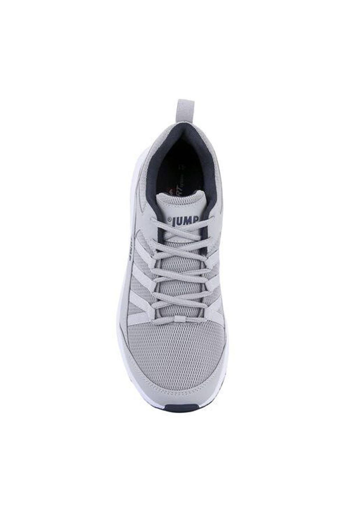 Gri Erkek Spor Ayakkabı Fileli Rahat 24865