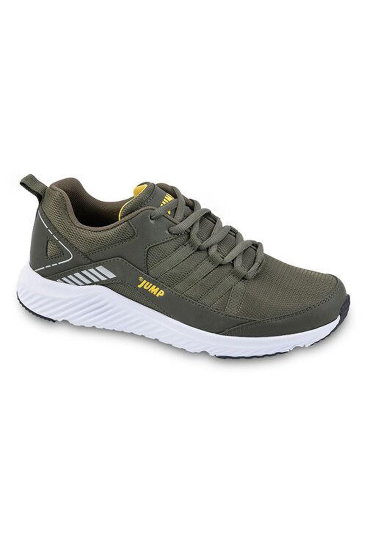 Haki Erkek Spor Ayakkabı Fileli Rahat 24865
